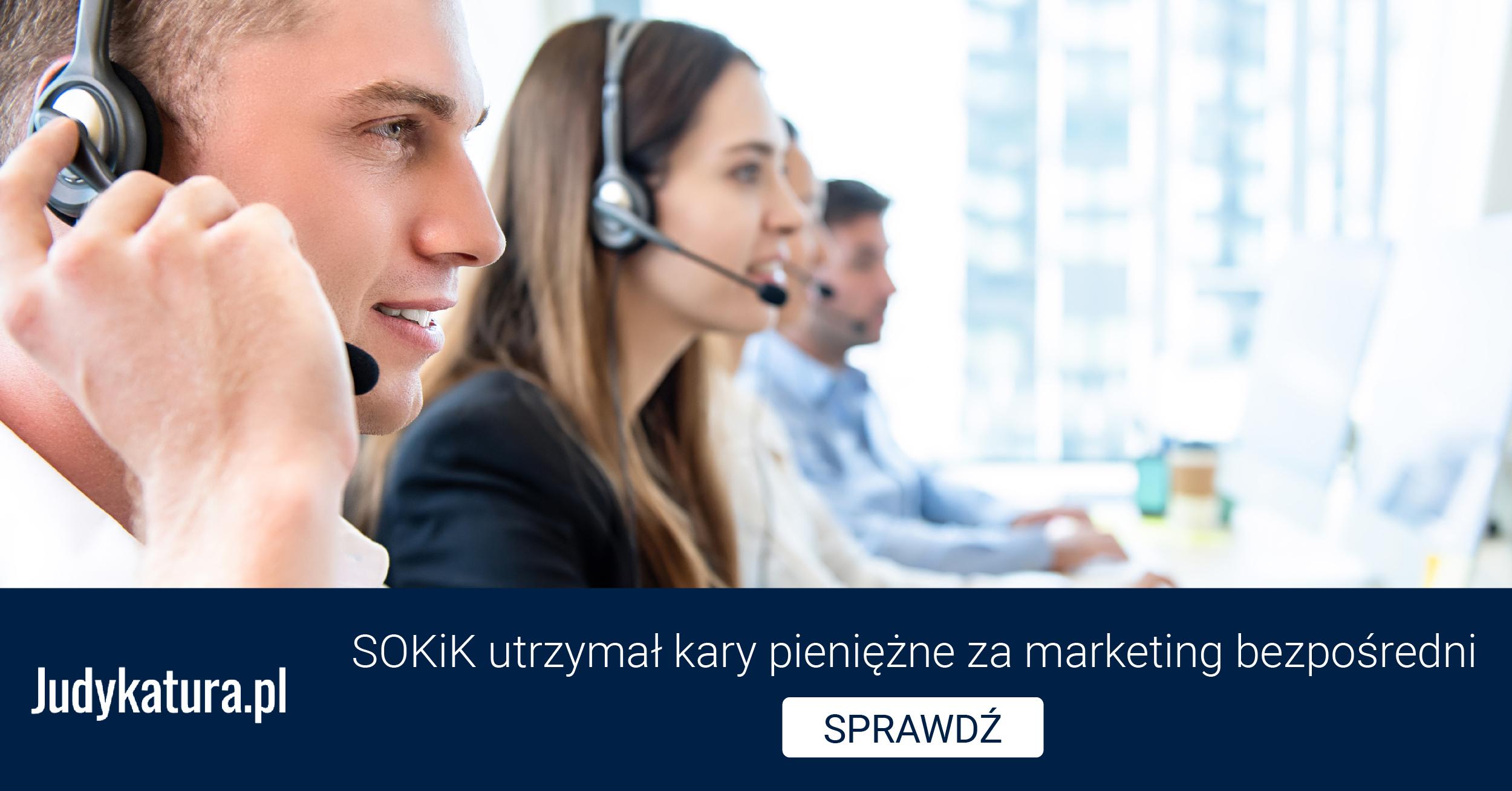 SOKiK utrzymał kary pieniężne zamarketing bezpośredni